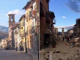 prima e dopo il terremoto