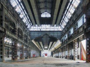 Lo stabilimento Innocenti di Milano.