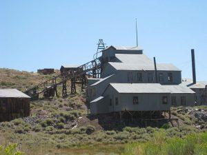 La miniera di Bodie, oggi abbandonata.