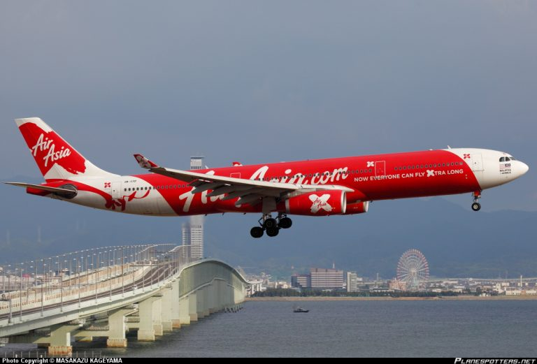 L'Airbuss A330 della Air Asia.