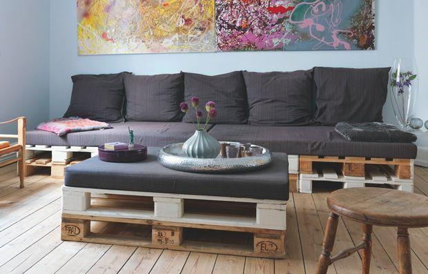 L'eco-divano fatto di pallet
