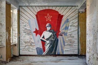 Murales propagandistico sovietico