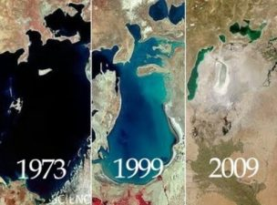 evoluzione lago d'Aral