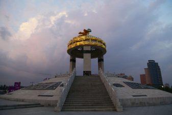 Costruzione sormontata da una cupoletta d'oro