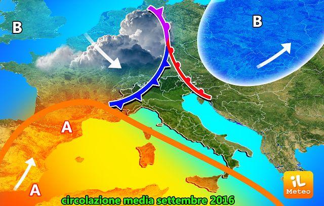 Previsioni meteo lunedì 5 settembre (2016)