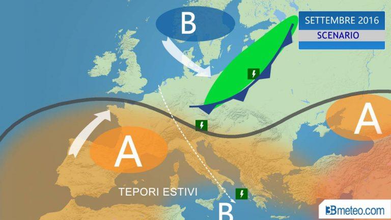 Previsioni meteo martedì 1 settembre (2016)