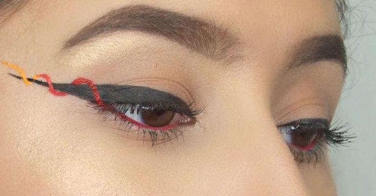 Eye-liner ribbon, il nuovo make-up per occhi intensi e colorati
