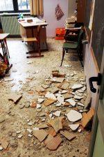 Crollo del controsoffitto nella scuola elementare Rodari, Nichelino