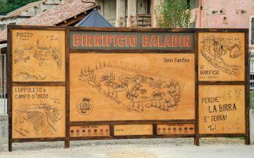 La mappa del progetto Baldin Open Garden di Teo Musso.