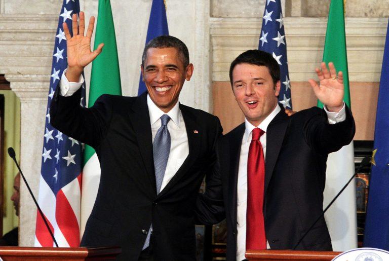 Il presidente degli States Obama e il premier Renzi.