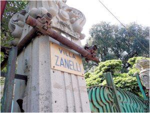 Insegna di Villa Zanelli