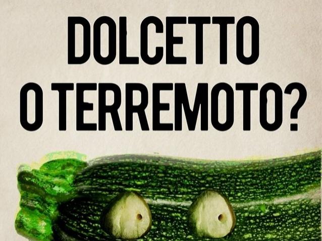 """Slogan di un ristorante vegano fa discutere: """"dolcetto o terremoto?"""""""