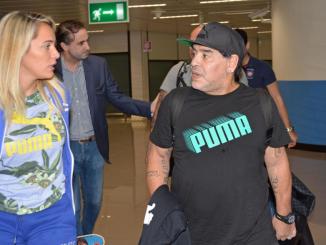 Maradona a Fiumicino