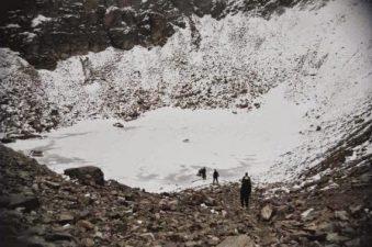 Zona del lago nella neve