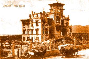 Cartolina di una villa liberty