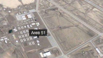 Area 51, panoramica dal cielo
