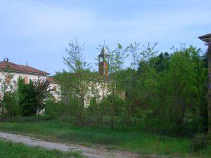 Vegetazione e case murate a Brusaschetto
