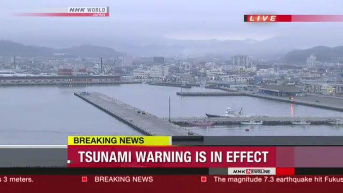 """Fukushima Giappone: terremoto magnitudo 6.9. """"In arrivo uno tsunami, evcuazione immediata"""""""