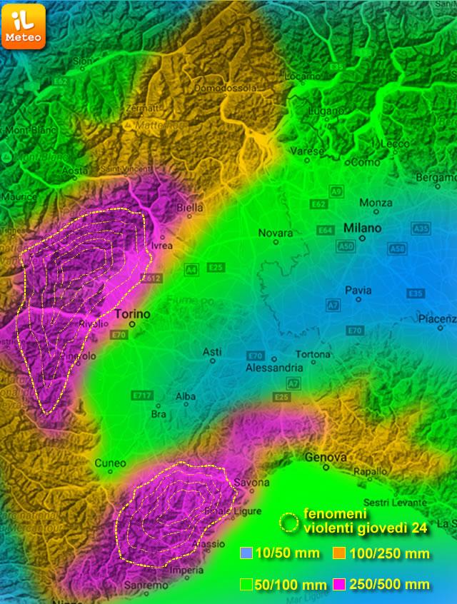Allerta maltempo in Liguria e Piemonte: esonda il Tanaro