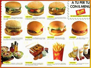 Burghy, il fast food degli anni '90