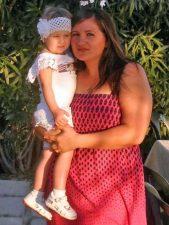 marina Havrylyuk con la figlia Katia