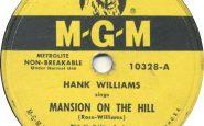 """Disco di """"Mansion On A Hill"""" di Hank Williams"""