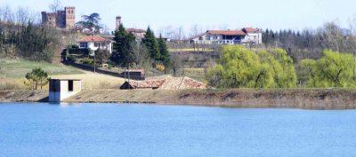 La diga e il Castello di Arignano