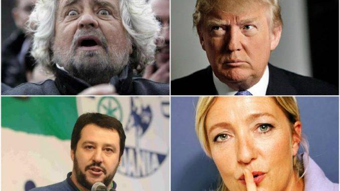 Beppe Grillo esulta per la vittoria di Donald Trump: