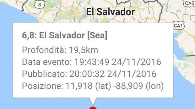 Nicaragua: violento terremoto magnitudo 7.2. E' allerta tsunami
