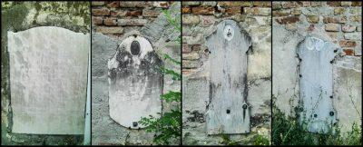 Muro in rovina del cimitero