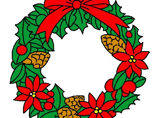 Ghirlande natalizie da colorare per bambini