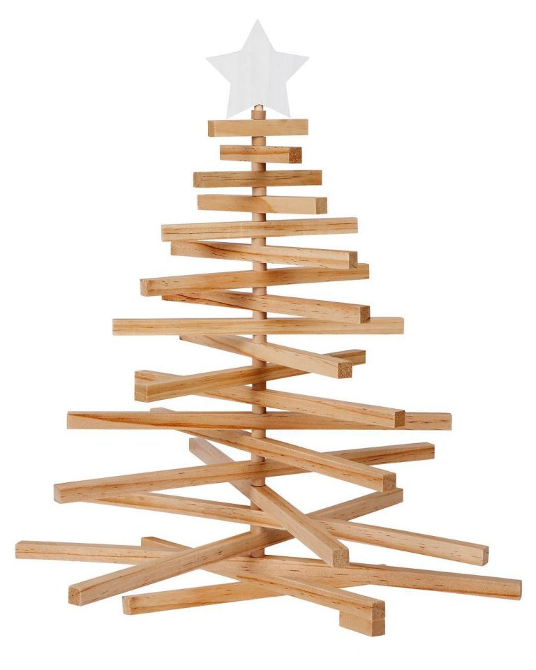 come fare albero di natale in legno