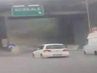 Acireale: autostrada A18 situazione maltempo