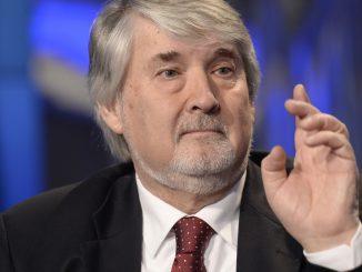 23/02/2015 Roma. Rai. Trasmissione televisiva Porta a Porta. Nella foto il ministro del lavoro Giuliano Poletti