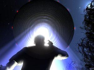 Scena di un rapimento alieno