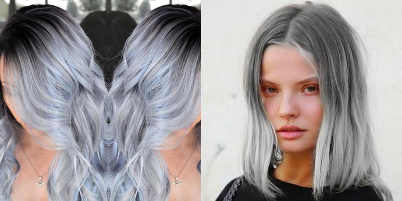 Shatush biondo tutte le sfumature - Bagno di colore grigio capelli ...
