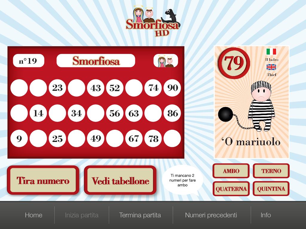 Generatore di cartelle per tombola for Tabellone tombola napoletana da stampare