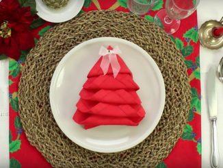 Come fare albero di Natale con i tovaglioli
