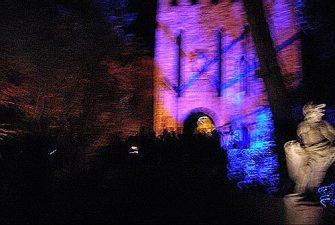 Immagine inquietante del castello