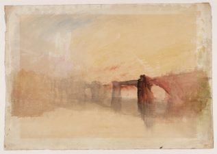 """""""Castello di Rochester e Ponte"""" di William Turner"""