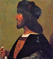 Ritratto di profilo di Cesare Borgia