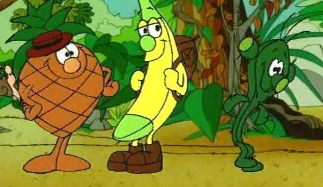 Ecco i fruttini il cartone animato con personaggi a