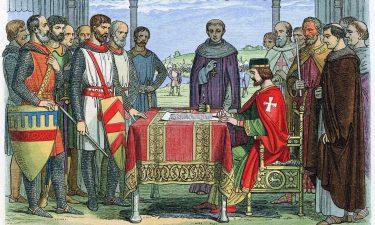 Giovanni Senza Terra firma la Magna Charta