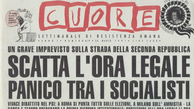 La satira degli anni 90 nel giornale Cuore.