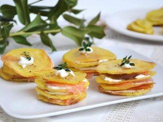 Millefoglie di patate e salmone: tutti i passaggi per realizzarla