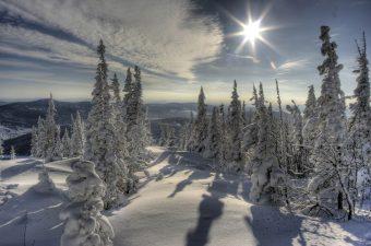 Neve in Siberia.