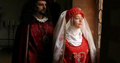 Momento del rievocazione storica del matrimonio di Rosania Fulgosio