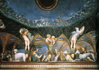 Affresco del Parmigianino Sala (Stufetta) di Diana e Atteone
