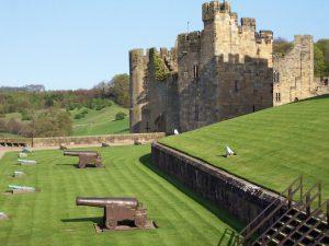 Cannoni nel cortile del castello