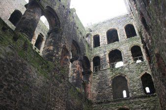 Mura del castello dall'interno